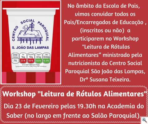 workshop rotulos alimentares